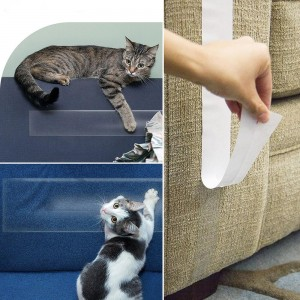 Anti-Scratch Cat Training Tape Double Sided Sticky Cat Scratch Deterrent Tape Save Your Furniture